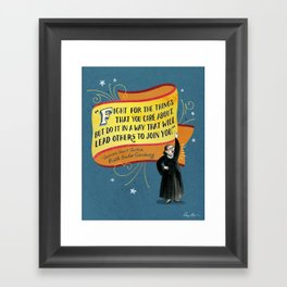 I Dissent: Fight Framed Art Print