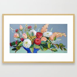 Big Blue Bowl Framed Art Print