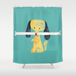 Lucky dog Shower Curtain