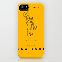 Minimal New York City Poster iPhone Case