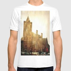 Church Time! White MEDIUM Mens Fitted Tee