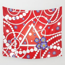 Petals and Pearls Wall Tapestry