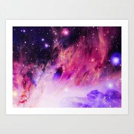 Fuchsia Pink Purple NebulA. Art Print