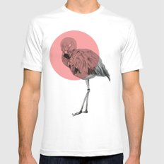 flamingo Mens Fitted Tee White MEDIUM