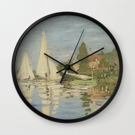 Regattas at Argenteuil Wall Clock