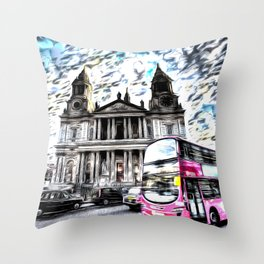 London Classic Art Throw Pillow