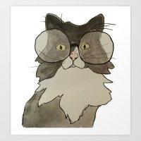 The Brilliant Cat Art Print
