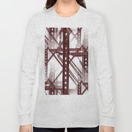 Red Steel Construction Long Sleeve T-shirt
