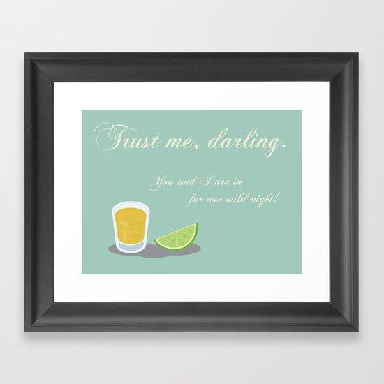 Tequila & Lime Framed Art Print