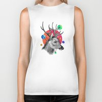 animals Biker Tanks featuring animals by mark ashkenazi