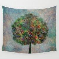 autumn Wall Tapestries featuring Autumn by Klara Acel