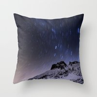 night sky Throw Pillows featuring Night sky by Mila Pechenyakova