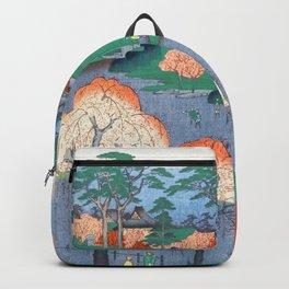 Temple Gardens Nippori Ukiyo-e Japanese Art Backpack