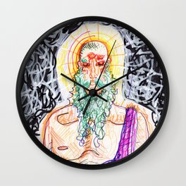 4 Eyes, Green Beard Wall Clock