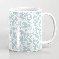renaissance Mugs featuring Renaissance Celadon by Antique Images