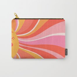 Sunshine Swirl – Pink & Peach Palette Carry-All Pouch