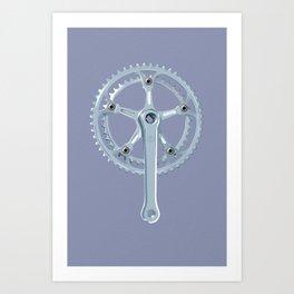 Vintage Cycling Components - crankset Art Print
