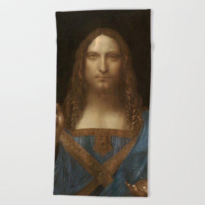 Price Slashed on 450M Leonardo da Vinci Salvator Mundi Beach Towel