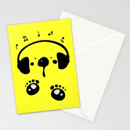 Panda bear love music Stationery Cards