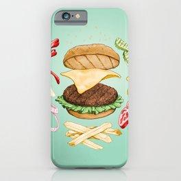 Burger Mandala iPhone Case