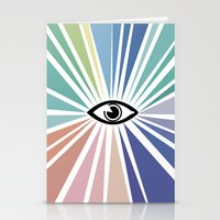 all seeing eye Stationery Cards featuring All seeing eye  by Nobra