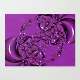 Shiny Purple Daisy Chain Canvas Print