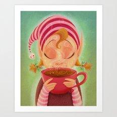 Elf Cocoa Art Print
