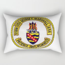 USS GEORGE C. MARSHALL (SSBN-654) PATCH Rectangular Pillow