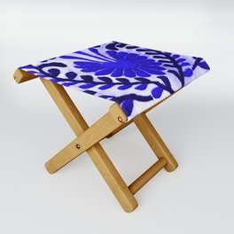 Strange Love Blue Folding Stool