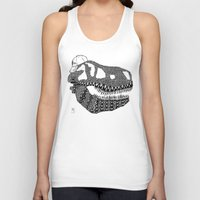 t rex Tank Tops featuring T-rex by Surfing Shaman