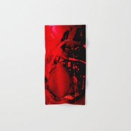 RED DIRTBIKE ENGINE Hand & Bath Towel