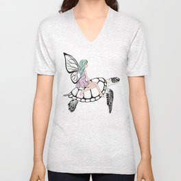 Fairy/ Turtle Unisex V-Neck