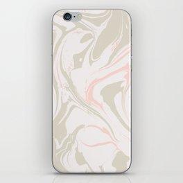 Beige marble pattern iPhone Skin