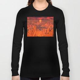 Space Islands of Orange Long Sleeve T-shirt