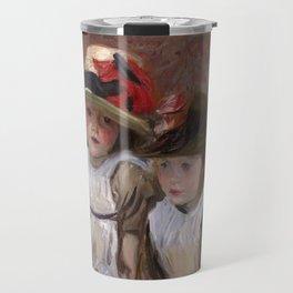 John Singer Sargent - Village children Travel Mug