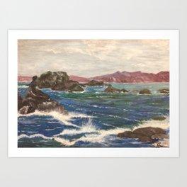 motion of the sea Art Print