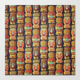 Tiki mask pattern Canvas Print