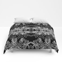 Abstract floral background Comforters