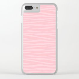 Zebra Print - Pink Marshmallow Clear iPhone Case