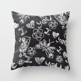 I LOVE YOU - CHALKBOARD Throw Pillow