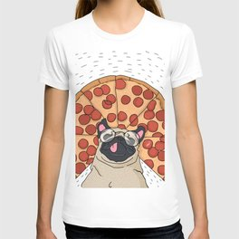 Funny Pug Pizza T-shirt