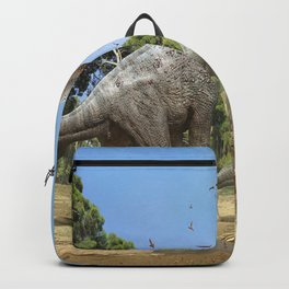 Dinosaurs walking on the river Backpack