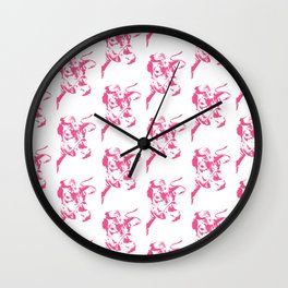 Follow the Herd All Over Pink #646 Wall Clock