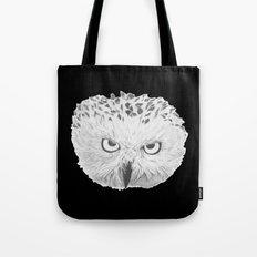 Snowy Owl Black Tote Bag