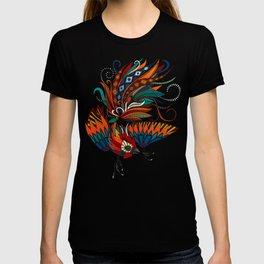 rooster ink beige T-shirt
