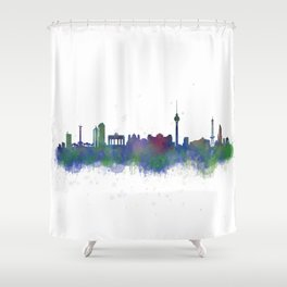 Berlin City Skyline HQ2 Shower Curtain