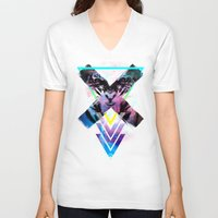 code V-neck T-shirts featuring CODE X by alfboc