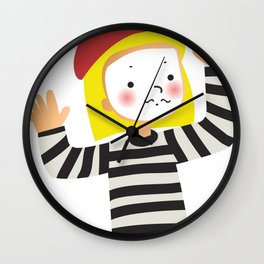 Le Mime Wall Clock