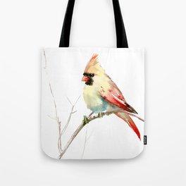 Northern Cardinal (female Cardinal bird) Tote Bag