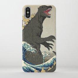 The Great Godzilla off Kanagawa iPhone Case